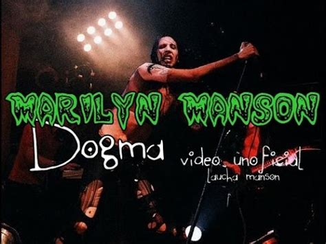 marilyn manson dogma video unofficial youtube
