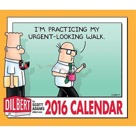 dilbert desk calendar work fun people desk