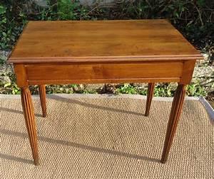 Petite Table En Bois : jolie petite table bureau en bois naturel ~ Teatrodelosmanantiales.com Idées de Décoration