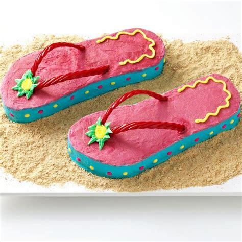 flip flop cakes ideas  pinterest beach themed