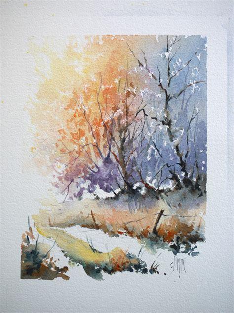 how to paint a l chemin de forêt à l aquarelle positif négatif