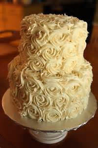 Simple Buttercream Wedding Cakes with Roses