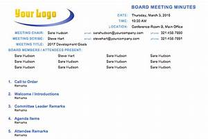 board minute template - free meeting minutes template for microsoft word