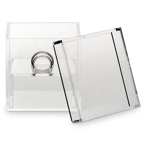 unique alternative acrylic wedding ring box the knot shop