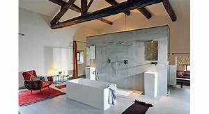 chambre avec salle de bain ouverte et dressing kirafes With salle de bain ouverte sur dressing
