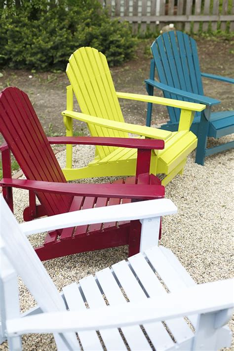 how to spray paint a wooden adirondack chair the home