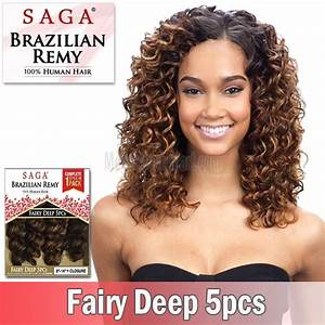 Saga Brazilian Remy 100 Human HairFairy Deep 5pcs