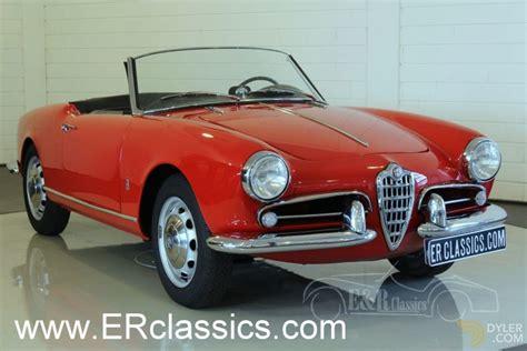 alfa romeo classic spider classic 1956 alfa romeo giulietta spider 750d restored