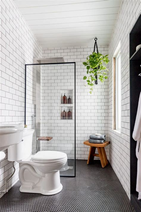 black  white industrial bathroom cherished bliss