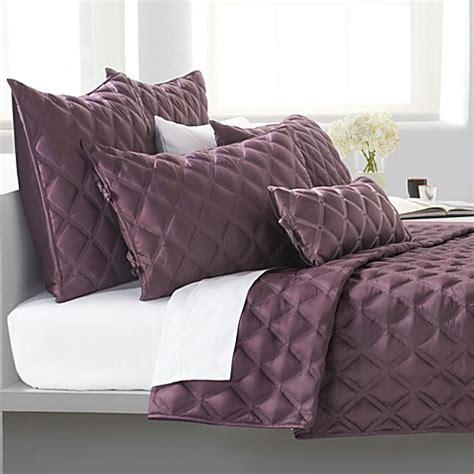 dkny uptown quilt purple bed bath beyond
