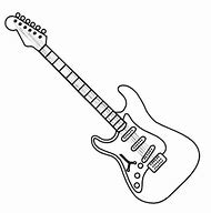 Electric Guitar Coloring Pages Printable