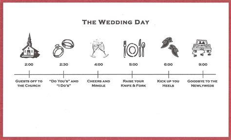 bicoastal wedding invitations timeline inserts - Wedding Invitation Timeline