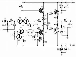 Mosfet Audio Amplifier With 60w Output