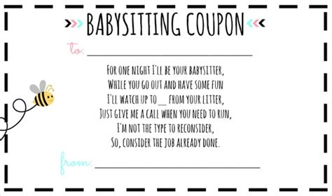 babysitting coupon template baby sitting voucher template 10 free word pdf documents free premium templates