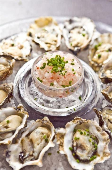 mignonette cuisine oysters with chagne mignonette granita seafood
