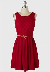 Casual Red Dress - csmevents.com