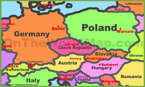 map  central europe