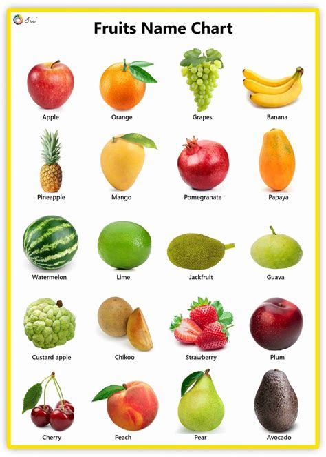 fruits   english facts pictures  charts