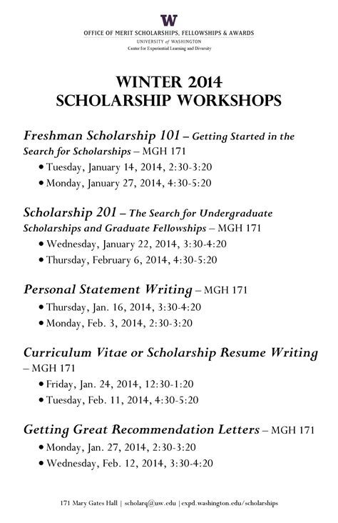 scholarship undergraduate research program