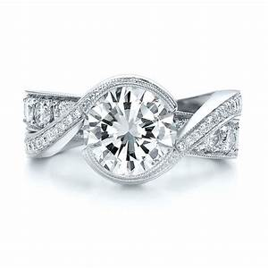 custom interlocking diamond engagement ring 100615 With interlocking engagement ring wedding band
