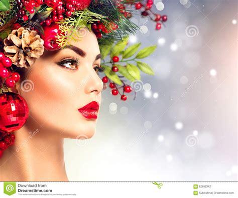 christmas fashion model woman stock photo image 62696342