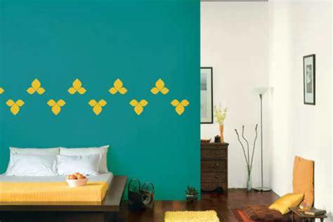 bedroom walls  jade impact  mudra stencil