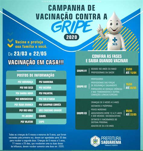 Veja em que nível de risco está o seu concelho. Saquarema inicia Campanha de Vacinação contra a Gripe | Prefeitura de Saquarema