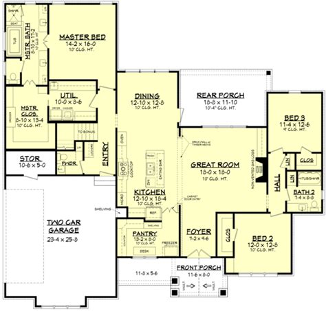Floor Master House Plans by Craftsman Style House Plan 3 Beds 2 5 Baths 2303 Sq Ft