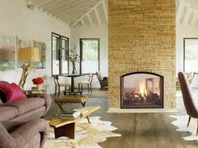 large kitchen dining room ideas 20 gorgeous two sided fireplaces for your spacious homes