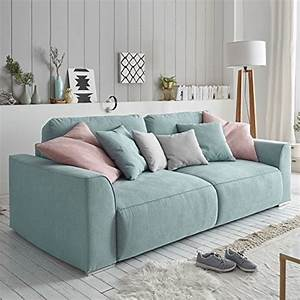 Big Sofa Mit Schlaffunktion Und Bettkasten : modernes design big sofa weekend aquamarin schlaffunktion mit bettkasten und kissen m bel24 ~ Orissabook.com Haus und Dekorationen