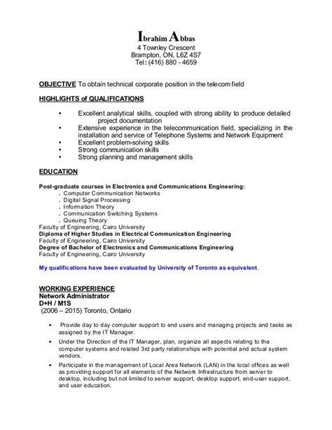 ibrahim abbas resume network administrator
