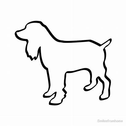 Outline Dog Spaniel Cocker Boxer Clipart Bones