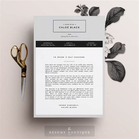 Resume Template The 3pk by Resume Template 5 Page Pack Cv Template Cover Letter