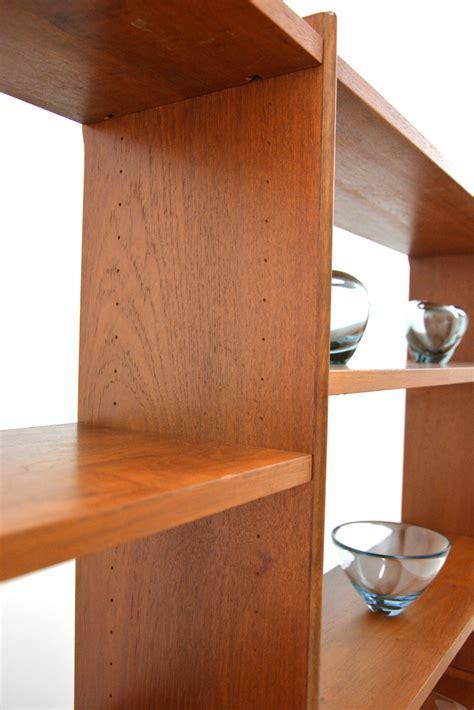 teak wall unit open shelved top danish homestore