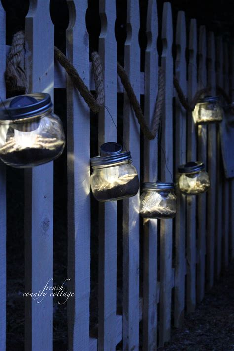 solar powered jar lights country cottage
