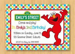 how to create elmo birthday party invitations templates With elmo template for invitations