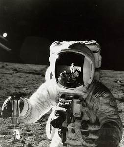 Alan Bean with the reflection of the photographer (Pete ...