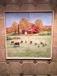 Anne39s Country Kitchen Barnyard Animals Tile Art Portraits