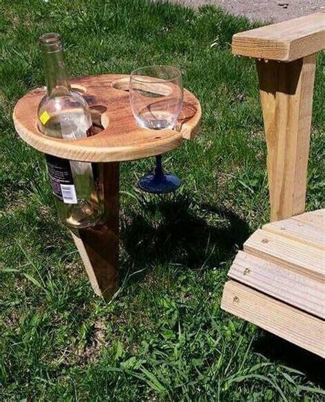 build  portable wine table  picnics diy projects