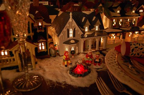 christmas table setting tablescape  dept  lit