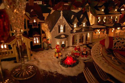 christmas table setting tablescape  dept  lit