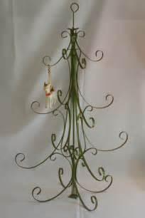 vintage metal christmas tree table top ornament holder
