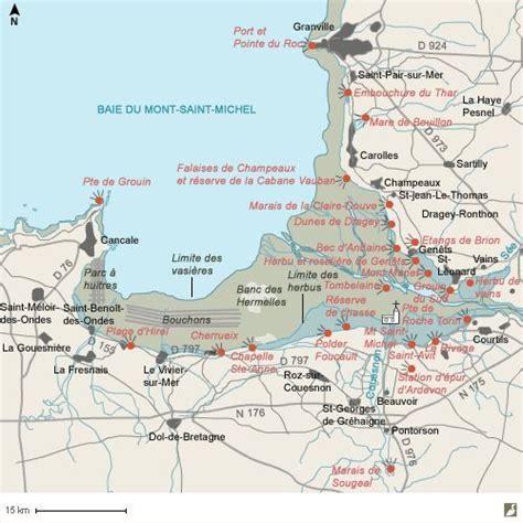 Carte Mont Michel Malo by La Baie Du Mont Michel Est Une Zone Humide Unique