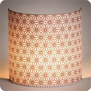 Applique Murale Cuivre : applique murale design en tissu motif japonais hoshi cuivre ~ Melissatoandfro.com Idées de Décoration