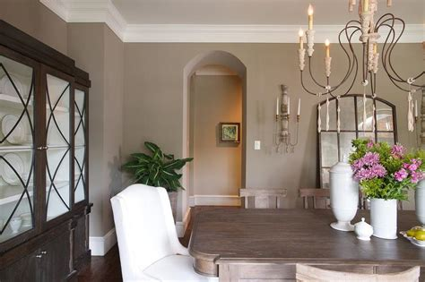 taupe dining room design transitional dining room