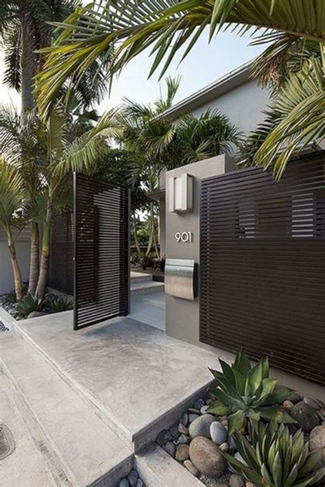 inspiring fence design ideas   dream home garden  landscaping modern house