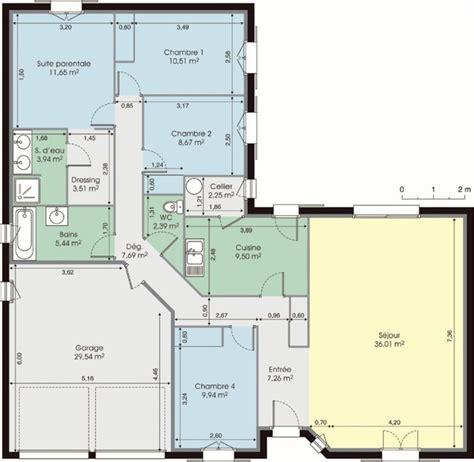 plan maison en l plain pied 3 chambres cuisine modã les et plans de maisons gt modã le de plain