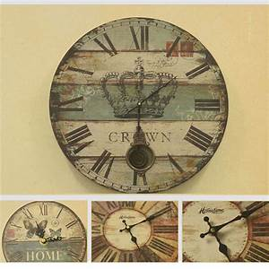 Vintage poster clock designs wall art sticker retro