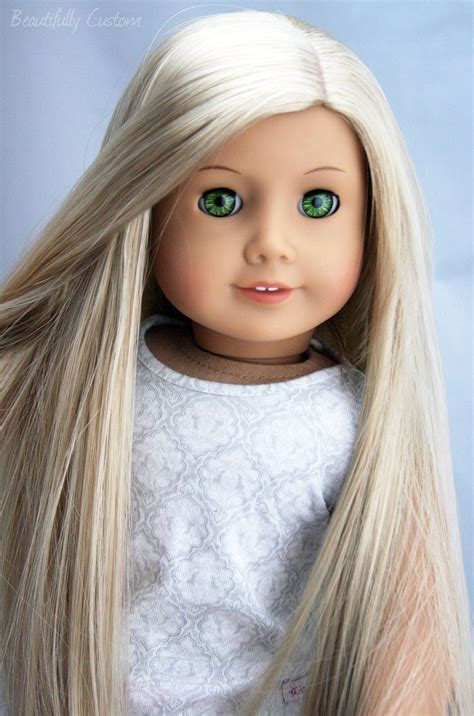 custom ooak american girl doll felicity green eyes