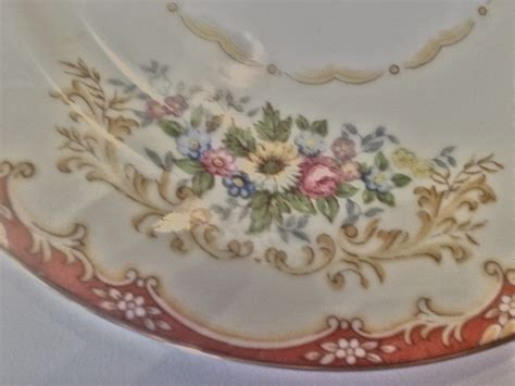 4 Vintage Noritake China Colby Soup Bowls And Liner Plates